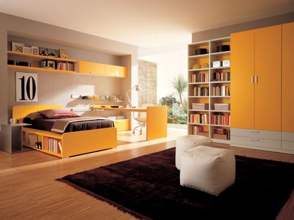 gelber Kinder-und Teenie-Zimmer