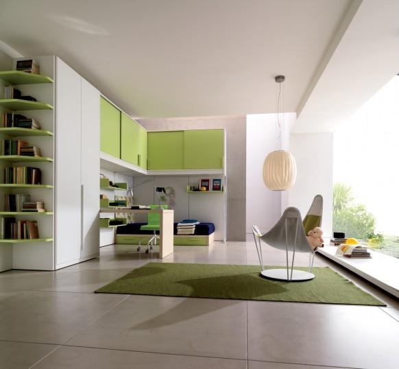Kinder-und Teenie-Zimmer grün
