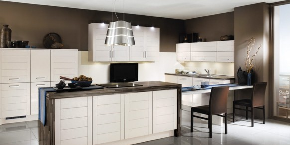 Küche mit tv-design