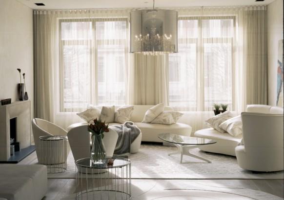 Wohnzimmer weiß