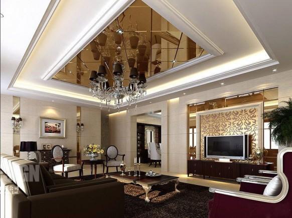 asiatische moderne Wohnzimmer