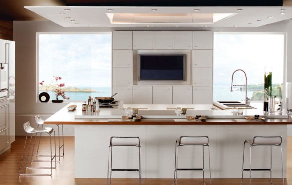 schöne weiße malerischen Küche
