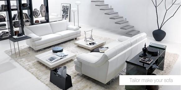schwarz und weiß Wohnzimmer