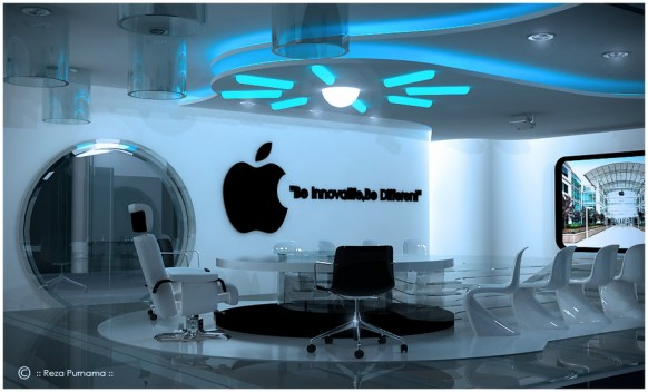 futuristic meeting room