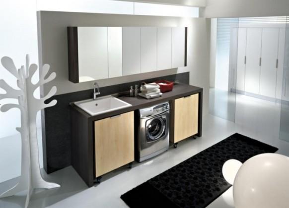 innovative Wäsche-Raum