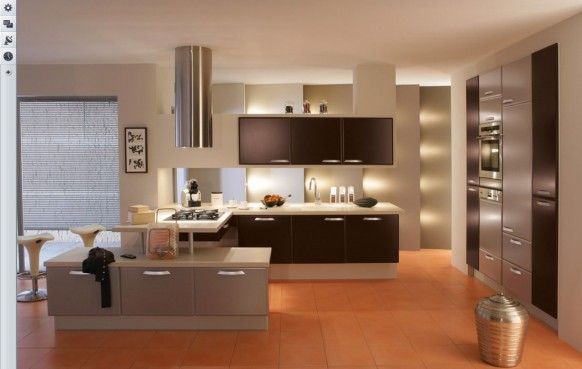 Küche brillante Beleuchtung