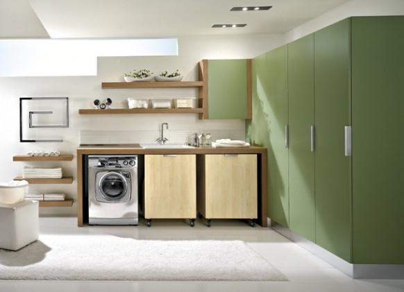 grün Waschküche