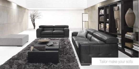 Leder-sofa-Satz