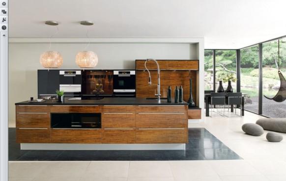 Luxus-Holz-Küche