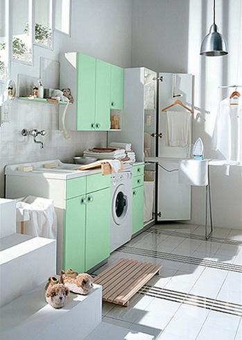 Pastell-Waschküche
