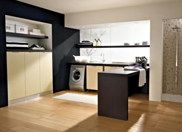 praktische Waschküche Idee