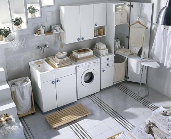 weiche, weiße Waschküche