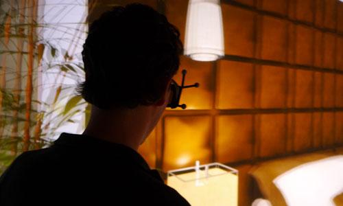 Konzept von Technomusik-Umgebungen in Filmen