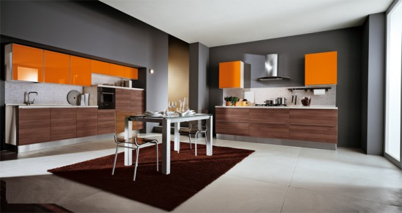 ala cucine orange Küche