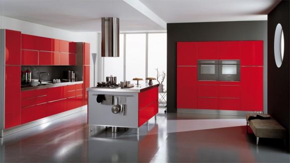 ala cucine rote italienische Küche