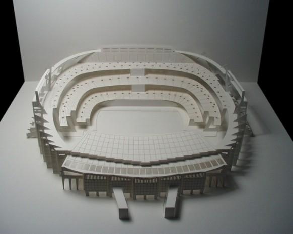 das Stadion camp nou Papier