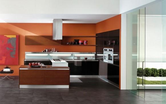 copat orange Küche