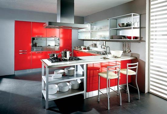 dema cucine rote Küche