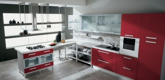 gatto cucine spa-rote Küche