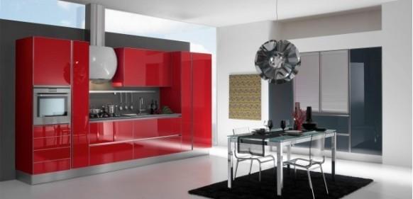 gatto cucine spa-rote-Küche-Interieur