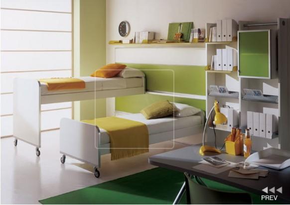 Kinder-Zimmer Etagenbett