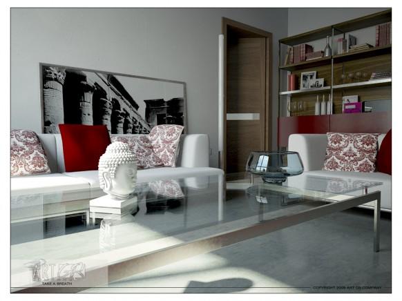 trendige Wohnzimmer