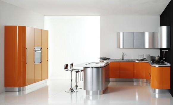 volare orange Küche