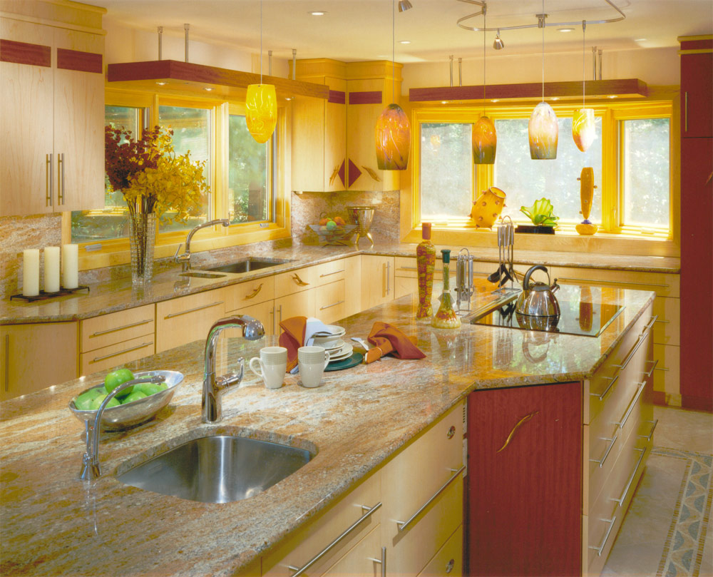 Yellow Kitchen Arrangement