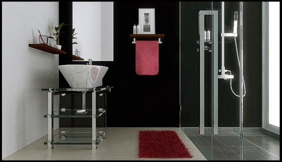 Badezimmer-Anordnung