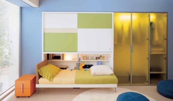 Schlafzimmer-Anordnung
