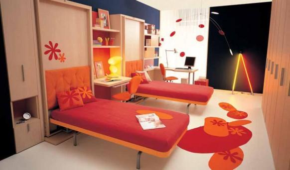 Schlafzimmer getrennte Kinderbetten