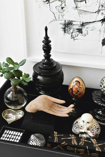 seltene Sammlung-schwarz-Leder-Fach vietnam