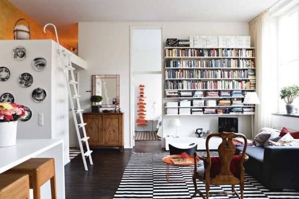 scandinavian weiß Wohnzimmer Bücherregal