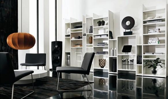 weiß-Wohnzimmer