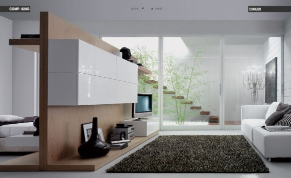 weiß-beige-Wohnzimmer