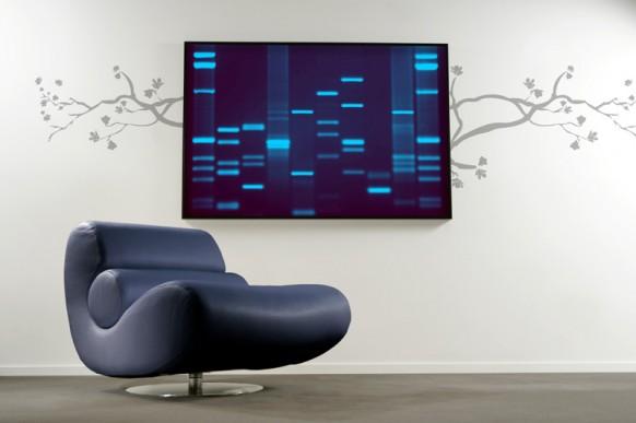 DNA-Kunst für Wohnzimmer
