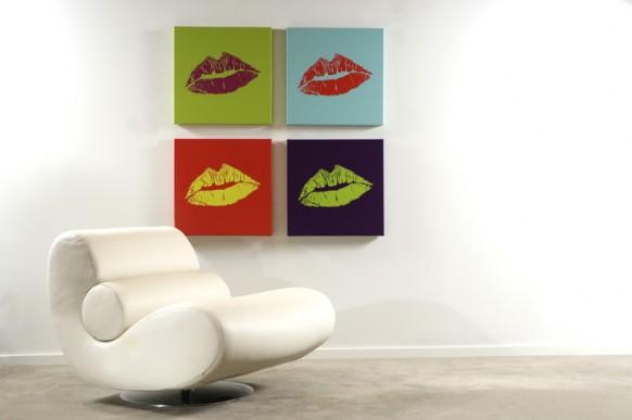 Küssen vier Plakate