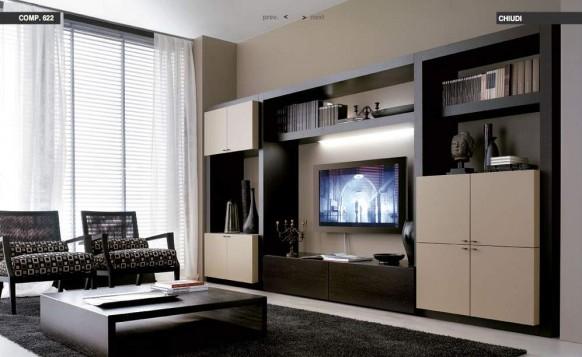 beige-Braun-Wohnzimmer