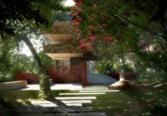 Haus-Garten-Wald