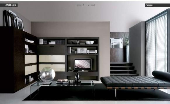 schwarz-loungebed-Wohnzimmer
