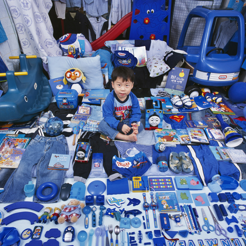 Blaue Kleinkinder Zimmer