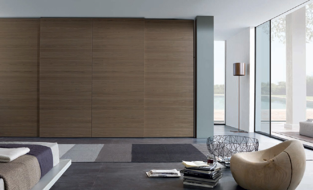 Brown sliding door wardrobe