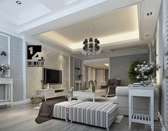 klassische weiße Wohnzimmer