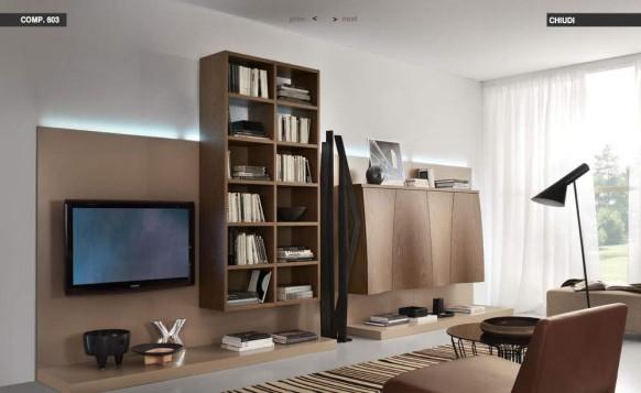 Kaffee-Braun-Wohnzimmer