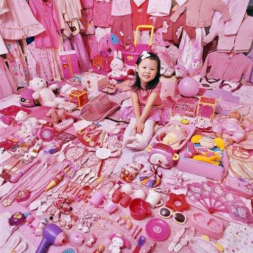 niedliche Mädchen rosa Zimmer