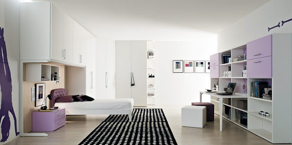 lila-schwarz-Teppich-Schlafzimmer