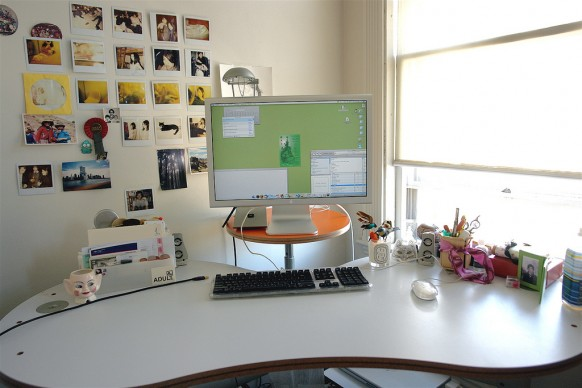 mac-Schreibtisch Dekor