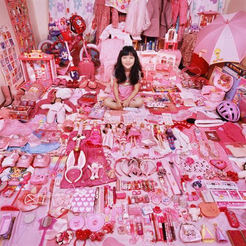 rosa barbie-Mädchen-Zimmer