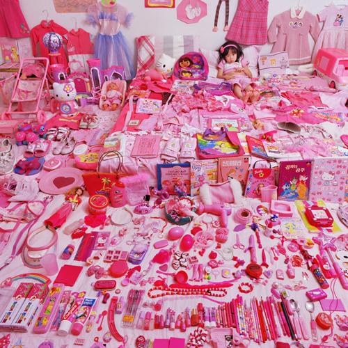 rosa niedliche Mädchen Zimmer