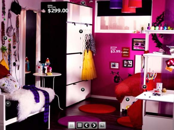 rosa-Wohnheim-Zimmer